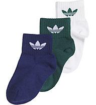 adidas Originals Kids Ankle - calzini - bambini (3 paia) , Blue/Green/White