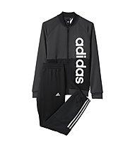 Adidas Linear - Trainingsanzug - Jungen, Black/White