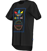 Adidas Originals Long Back Tee T-Shirt fitness donna, Black