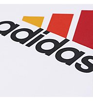 Adidas Essential Logo T-shirt, White/Semi Solar Gold/B.Orange