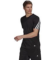 adidas M Future Icons 3S - T-Shirt - Herren , Black