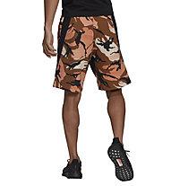 adidas M Street Sh Aop - Trainingshose kurz - Herren, Brown/Black