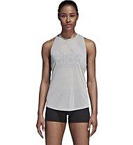 adidas Magic Logo - top fitness - donna, White