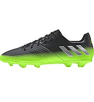 Adidas Messi 16.2 FG - scarpe da calcio terreni compatti, Dark Grey/Green