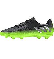 Adidas Messi 16.2 FG Fußballschuhe für normalen/kompakten Rasen, Dark Grey/Green