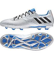 Adidas Messi 16.3 FG - scarpa da calcio, Silver/Blue