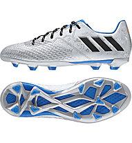 Adidas Messi 16.3 FG Jr - Kinder-Fußballschuhe, Silver/Blue