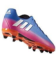 Adidas Messi 16.3 FG Junior - Fußballschuh für festen Boden, Blue/Pink