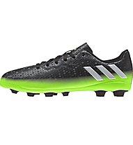 Adidas Messi 16.4 FxG J Kinder-Fußballschuhe für harte Rasenplätze, Dark Grey/Green