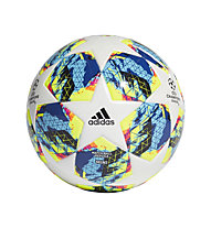 adidas Mini Ball Finale - mini pallone da calcio, White/Cyan/Yellow