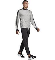 adidas MTS Relax - Trainingsanzug - Herren, Grey/Black