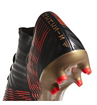 adidas Nemeziz 17.3 FG - scarpe da calcio terreni compatti, Black/Red/Gold
