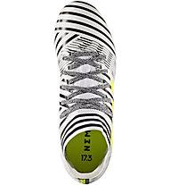 Adidas Nemeziz 17.3 FG Junior - Kinderfußballschuh für festen Untergrund, White/Black/Yellow