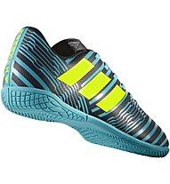 Adidas Nemeziz 17.4 Indoor Junior - scarpe calcetto indoor, Blue/Yellow