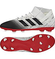 adidas Nemeziz 18.3 FG - scarpe da calcio terreni compatti, White/Red/Black
