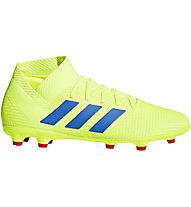 adidas Nemeziz 18.3 FG - Fußballschuhe Rasenplätze, Lime/Blue