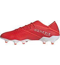 adidas Nemeziz 19.1 FG - Fußballschuh kompakte Rasenplätze, Red/White