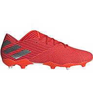 adidas Nemeziz 19.2 FG - Fußballschuhe komplakte Rasenplätze, Red/Orange