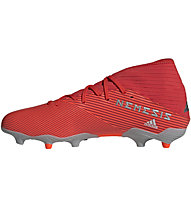adidas Nemeziz 19.3 FG - Fußballschuh kompakte Rasenplätze, Red/Grey