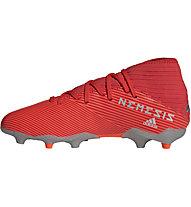 adidas Nemeziz 19.3 FG Junior - Fußballschuh komplakte Rasenplätze - Kinder, Red/Grey