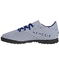 adidas Nemeziz 19.4 TF - scarpe da calcio per terreni duri - bambino, White/Blue