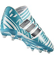 Adidas Nemeziz Messi 17.3 FG Junior - Fußballschuh - Kinder, Light Blue/White