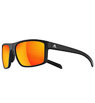 adidas Whipstart - occhiali sportivi, Black Matt-Red Mirror
