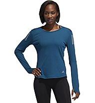 adidas Own The Run - langärmliges Laufshirt - Damen, Blue