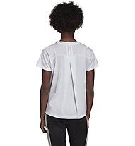 adidas Pleated Tee - Fitnessshirt - Damen, White
