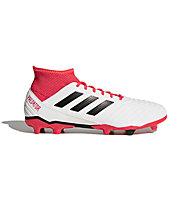 adidas Predator 18.3 FG - scarpe da calcio per terreni compatti, White/Red
