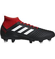 adidas Predator 18.3 SG - Fußballschuhe weiche Böden, Black/Red