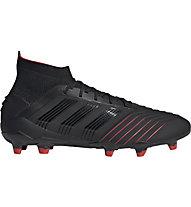 adidas Predator 19.1 FG - scarpe calcio terreni compatti, Black
