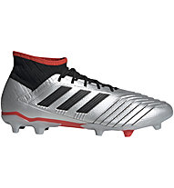 adidas Predator 19.2 FG - Fußballschuhe fester Boden, Silver/Black/Red