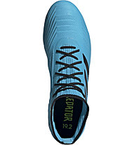 adidas Predator 19.2 FG - scarpe da calcio terreni compatti, Light Blue/Black