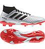 adidas Predator 19.3 FG - Fußballschuhe fester Boden, Silver/Black/Red