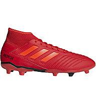 adidas Predator 19.3 FG - scarpe da calcio terreni compatti, Red