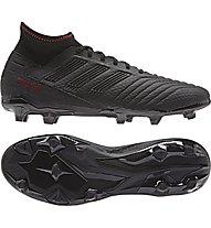 adidas Predator 19.3 FG - Fußballschuhe kompakte Rasenplätze, Black