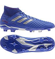 adidas Predator 19.3 FG - Fußballschuhe kompakte Rasenplätze, Blue/Silver