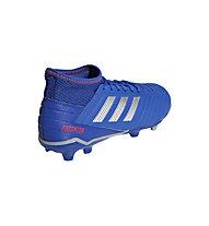 adidas Predator 19.3 FG JR - scarpe da calcio terreni compatti - bambino, Blue/Silver