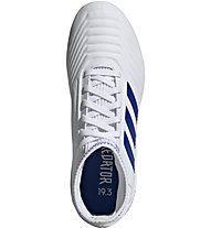 adidas Predator 19.3 FG Jr. - Fußballschuhe kompakte Rasenplätze - Kinder, White/Blue