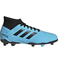 adidas Predator 19.3 FG JR - scarpe da calcio terreni compatti - bambino, Light Blue/Black
