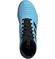adidas Predator 19.3 FG - Fußballschuhe kompakte Rasenplätze- Kinder, Light Blue/Black