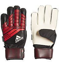 adidas Predator Fingersave JR - guanti portiere calcio, Black/Red/White