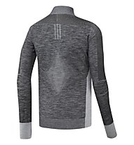 Adidas Primeknit 1/2 zip - maglia running, Grey