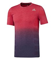 Adidas Primeknit Wool Dip Dye - T-shirt running, Red/Blue