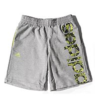Adidas Recharged Knit Short Ragazzo, Medium Grey H./S.S.Yellow