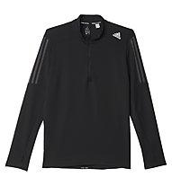 Adidas Response 1/2 zip LS Tee - maglia a maniche lunghe running, Black
