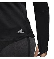 adidas Response Climawarm 1/2 Zip - maglia running - donna, Black