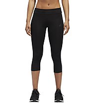 adidas Response Tight - Laufhose 3/4 lang - Damen, Black