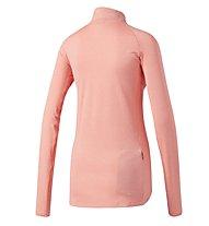 Adidas Supernova 1/2 Zip - Laufshirt mit Reißverschluss - Damen, Rose